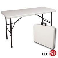 LOGIS邏爵~ 生活多用122CM萬用摺疊桌/野餐桌/展示桌/會議桌* ZK-122E