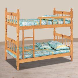 【時尚屋】[UZ6]成號3尺白木方柱單欄雙層床UZ6-114-4不含床墊