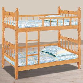 【時尚屋】[UZ6]成號3.5尺白木方柱全欄雙層床UZ6-114-3不含床墊
