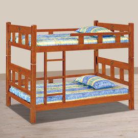 【時尚屋】[UZ6]柚木色方柱3.5尺角柱雙層床UZ6-112-2不含床墊