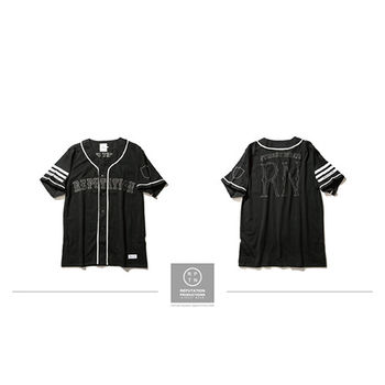 REPUTATION Gothic fonts Baseball Shirts - 美式歌德字體棒球衫-行動