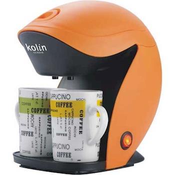 (福利品)【Kolin歌林】雙杯造型咖啡機 CO-R201B / 含兩只馬克杯 / 美式咖啡機