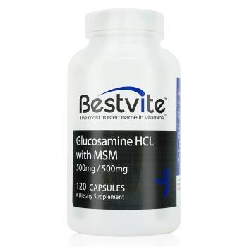 【美國BestVite】必賜力葡萄糖胺+MSM膠囊1瓶 (120顆)