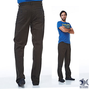 【NST Jeans】390(5463) 義式摩登 橄欖咖啡休閒褲(中腰) _兩色可選 深灰帶藍/橄欖咖啡-行動