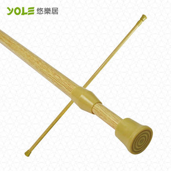 【YOLE悠樂居】木紋伸縮門/浴簾桿70-120cm#1327029(2入)