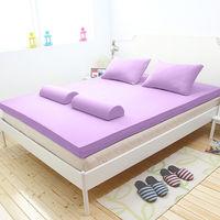 輕鬆睡-EzTek  波浪面竹炭感溫釋壓記憶床墊{雙人加大10cm}繽紛多彩3色