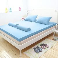 [輕鬆睡-EzTek]  波浪面竹炭感溫釋壓記憶床墊{單人8cm}繽紛多彩3色