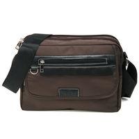 MAKSIM 潮流時尚多夾層尼龍側背包 / 可放10吋平板(1153咖)