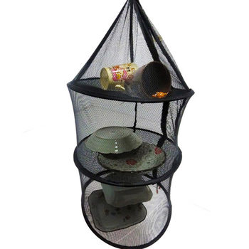 WASHAMl-折疊戶外防蠅籠-晾曬網-碗籃