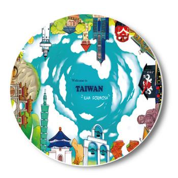 愛台灣吸水杯墊-樂台灣