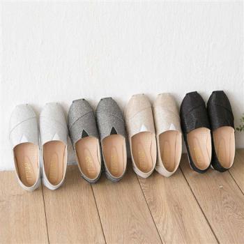 TTSNAP樂福鞋-MIT星星閃耀亮片真皮平底休閒鞋-黑/金/銀/灰-行動