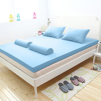 [輕鬆睡-EzTek]全平面竹炭感溫釋壓記憶床墊{雙人6cm}繽紛多彩3色
