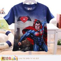 魔法Baby 男童裝 蝙蝠俠對超人正義曙光授權短袖T恤~k50096