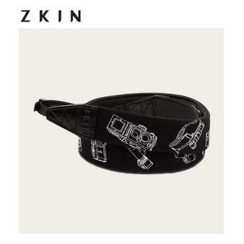 【ZKIN】Lamia (Z4239) 真皮精品時尚相機背帶 拼圖黑