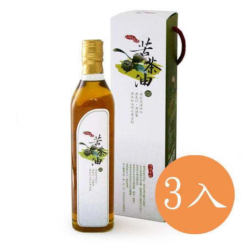 【有機園】苦茶油520ml x3瓶