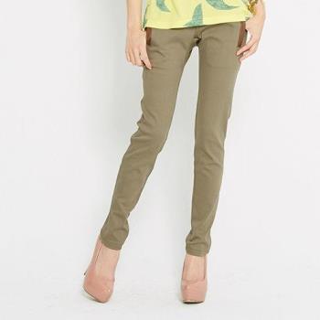 【TOP GIRL】修身窄管九分褲-墨綠