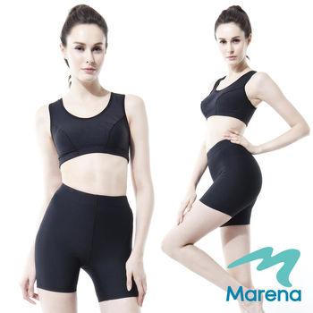 【美國原裝Marena】三分中腰提臀塑身褲/顯瘦機能束褲★黑★