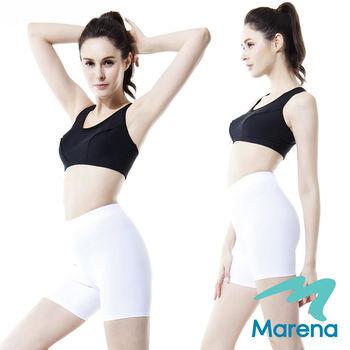 【美國原裝Marena】三分中腰提臀塑身褲/顯瘦機能束褲★白★