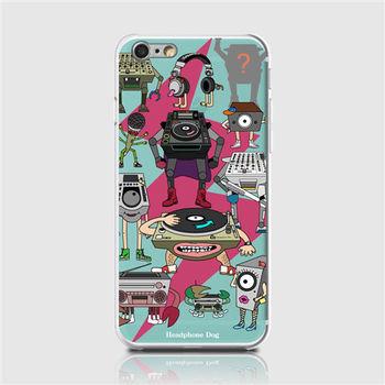 HeadphoneDog耳機狗音響人iPhone手機殼(閃電綠)-行動