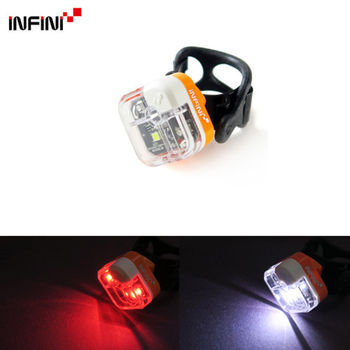 【INFINI】ARIA I-220W 多用途LED前後共用警示燈 前燈後燈/台灣製-橘色