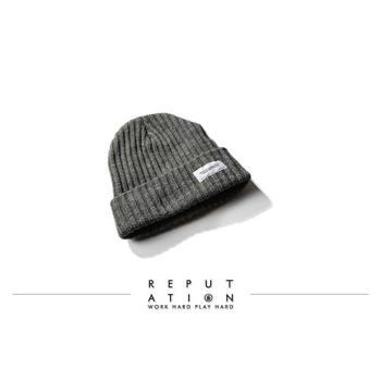 REPUTATION - 粗針織毛帽 / 灰