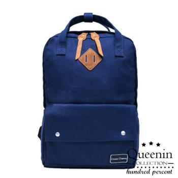 DF Queenin日韓 - 日系帆布手提後背包