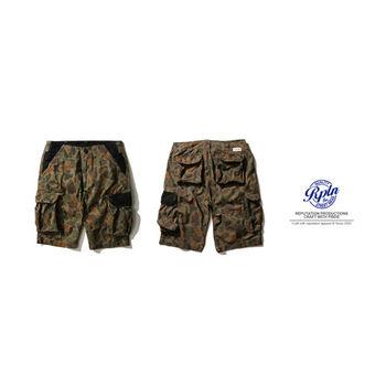 REPUTATION Classic Mosaic Camouflage Shorts-拼接反牛皮迷彩短褲-行動