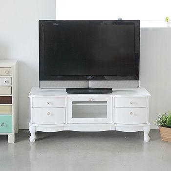 《舒適屋》法式夢幻公主風掀門電視櫃/收納櫃