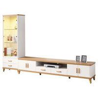 【時尚屋】[UZ6]寶格麗9尺L型電視櫃UZ6-190-1