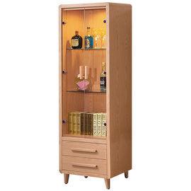 【時尚屋】[UZ6]詠佳2尺原木色展示櫃UZ6-189-2