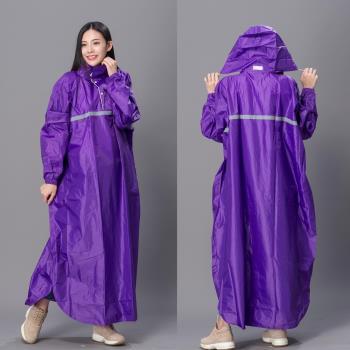 【東伸 DongShen】風型尼龍頭套式雨衣-紫色-行動