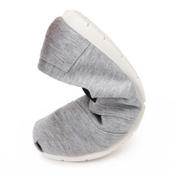 TTSNAP休閒鞋-MIT 小清新綁帶軟Q真皮懶人鞋-休閒灰-行動