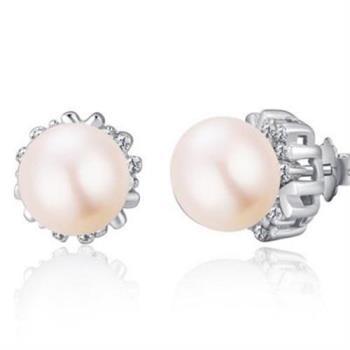 【米蘭精品】925純銀耳環珍珠耳飾蒲公英造型
