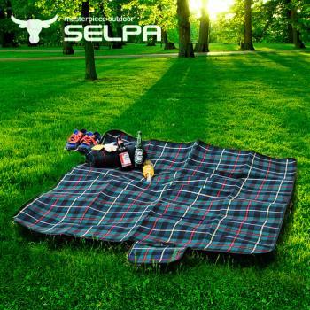 【韓國SELPA】戶外防水處理絨毛野餐墊/寶寶爬行墊/地墊/地布(中型-二入)