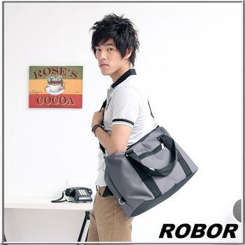 MAKSIM 百搭輕便風格旅行袋側背包 / 手提包(826中灰)