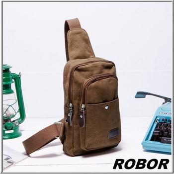 MAKSIM 型男極簡帆布單肩包側背包 / 單車包(8071棕)