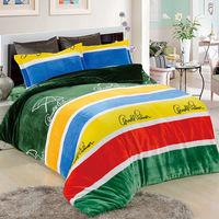 Arnold Palmer 經典情懷 法蘭絨 特大四件式 兩用被床包組