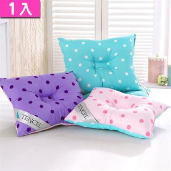 【精靈工廠】頂級天絲雙色點點兒童人體工學保護枕(B0631)
