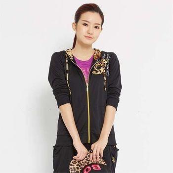 【TOP GIRL】豹紋拼接針織連帽外套-共二色