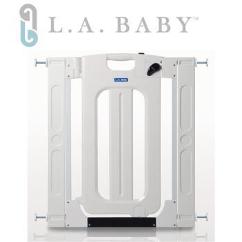 【美國 L.A. Baby】 雙向自動上鎖安全門欄/圍欄/柵欄-附贈兩片延伸片