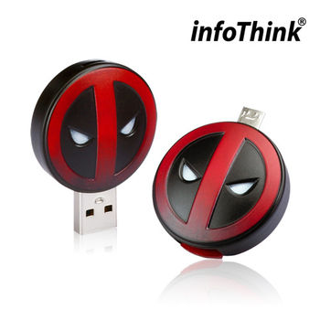InfoThink DeadPool 死侍OTG雙頭造型隨身碟 32GB-行動