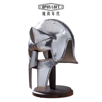【OPUS LOFT純真年代】復古鬥士豪華武士頭盔模型(含立架) IR-8062A 模型 擺飾 裝飾 手工打造 公仔