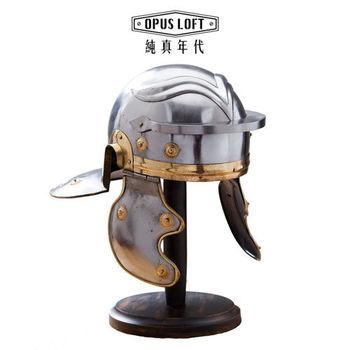 【OPUS LOFT純真年代】復古羅馬武士頭盔模型(含立架) IR-80611 模型 擺飾 裝飾 手工打造 公仔