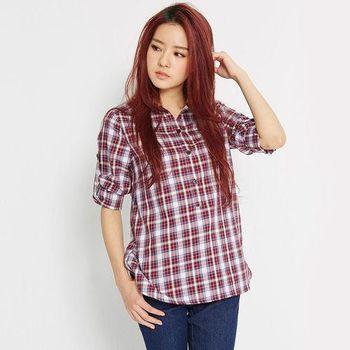 TOP GIRL 休閒百搭格紋襯衫 (共二色)