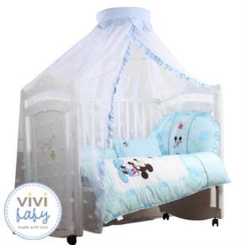 【VIVIBABY】米奇/米妮嬰兒床蚊帳(米奇藍/米妮粉)