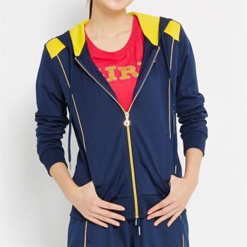 TOP GIRL 貓頭鷹圖騰連帽長袖外套 (共二色)