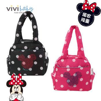 【ViVibaby】迪士尼空氣媽媽包-保冷袋(粉/黑)