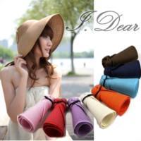 【I.Dear】韓版抗UV可折疊式 時尚遮陽帽(5色)現貨