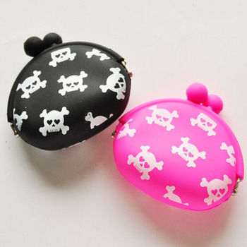 【Miyo】Miyo就愛骷髏頭零錢包兩件組(黑桃紅)