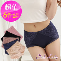 【PINK LADY】台灣製 抗菌舒爽深呼吸修飾褲6691(6件組)